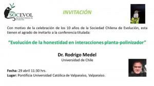 invitación 29 de Abril Rodrigo Medel